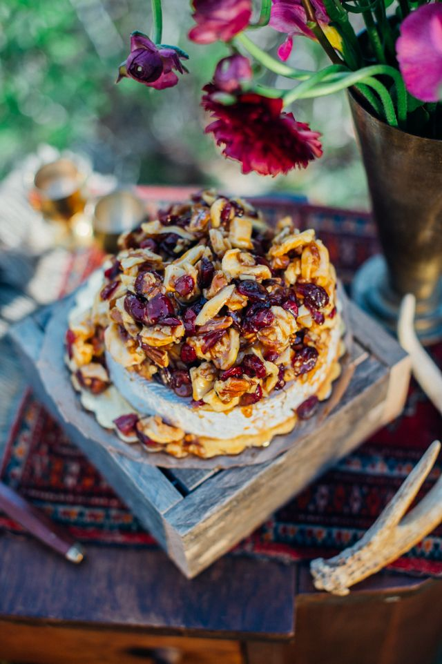 Cheese round with nuts | Paula Bartosiewicz Photography | see more on: http://burnettsboards.com/2014/05/bohemian-gemstone-shoot-diy-elements/