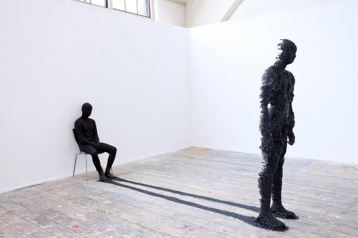 "Saatchi Online Artist: Rook Floro; Mixed Media, 2011, Sculpture ""Shadow"""