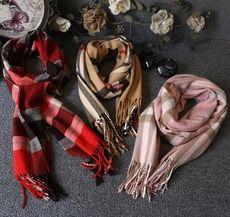 欧美大牌2014秋冬新品女童超百搭柔软经典格子羊绒围巾儿童围巾