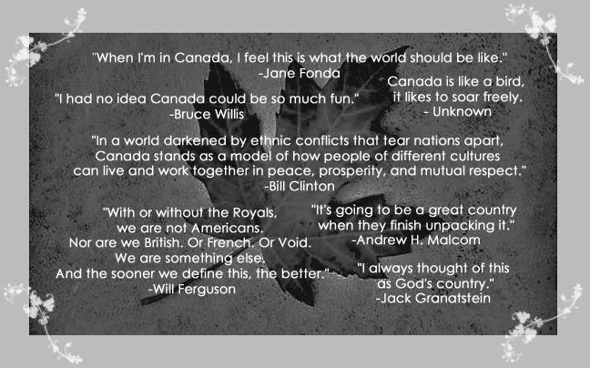 Canada through the words of others.