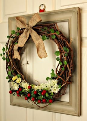 Layered Picture Frame Wreath