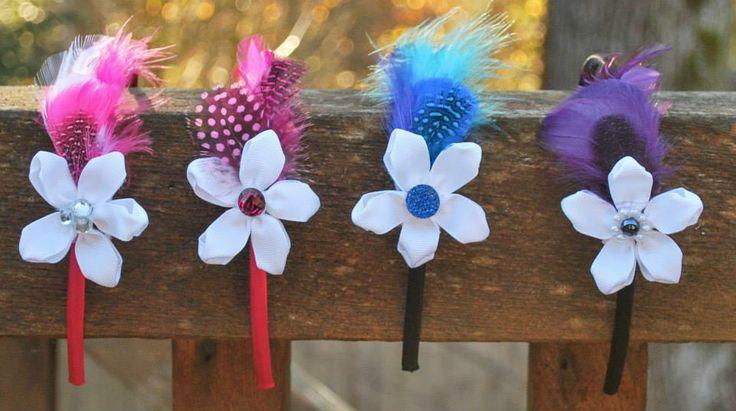 Hair accessories, feathers, handmade, unique gifts, www.facebook.com/littlegraciescreations