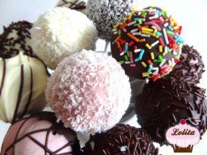 Cake pops de vainilla y chocolate