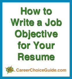 How To Write Resume Job Objectives  Job Objective For Resume