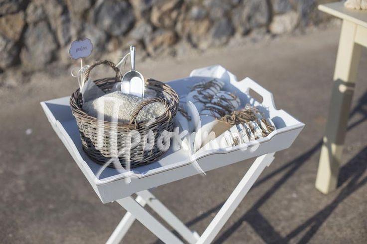 rice in basket wedding planning in Greece