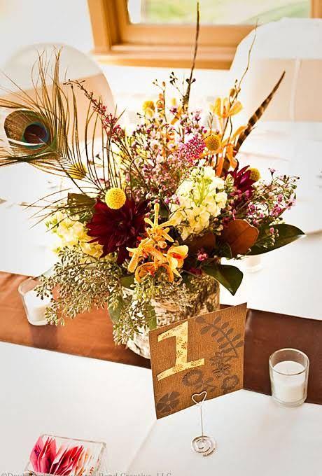 77 best fall wedding centerpieces images on pinterest for Center arrangements for weddings