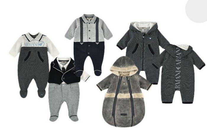 Babymode von Armani - stilvolle Schneeanzüge