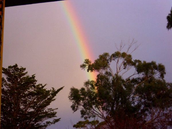 #Rainbow Photos, this one showing Dodges Ferry, inspiration for Donna Griggs of Seaside Expressions Jewellery. Article for think-tasmania.com #Tasmania