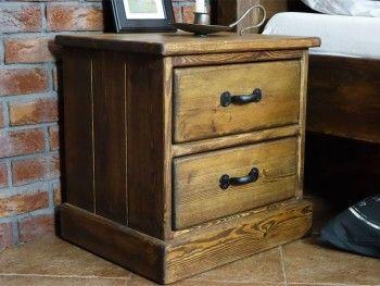 Noční stolek borovicový Rustyk 2