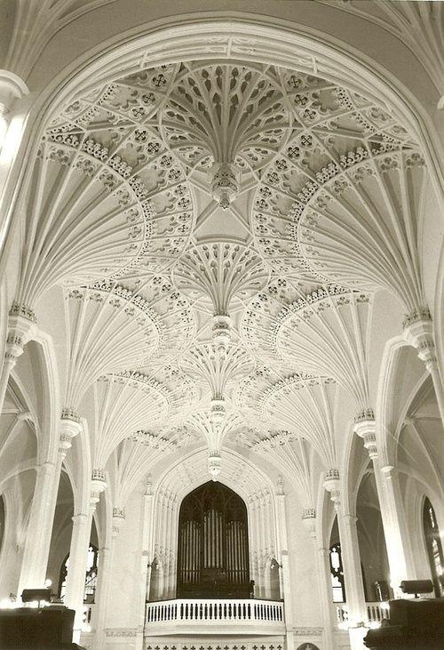Interior of Unitarian Church in Charleston, South Carolina - an utterly stunning ceiling. LOVE CHARLESTON