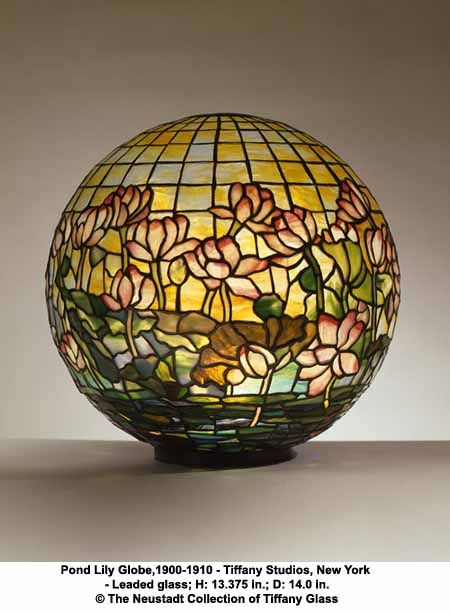 Tiffany studios pond lily globe ca courtesy the neustadt collection of tiffany glass new york chrysler museum of art