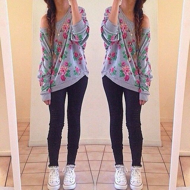 Baggy Sweater With Leggings - Google Search