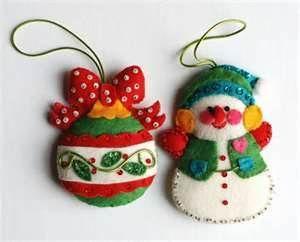 Bucilla vintage Christmas felt ornaments
