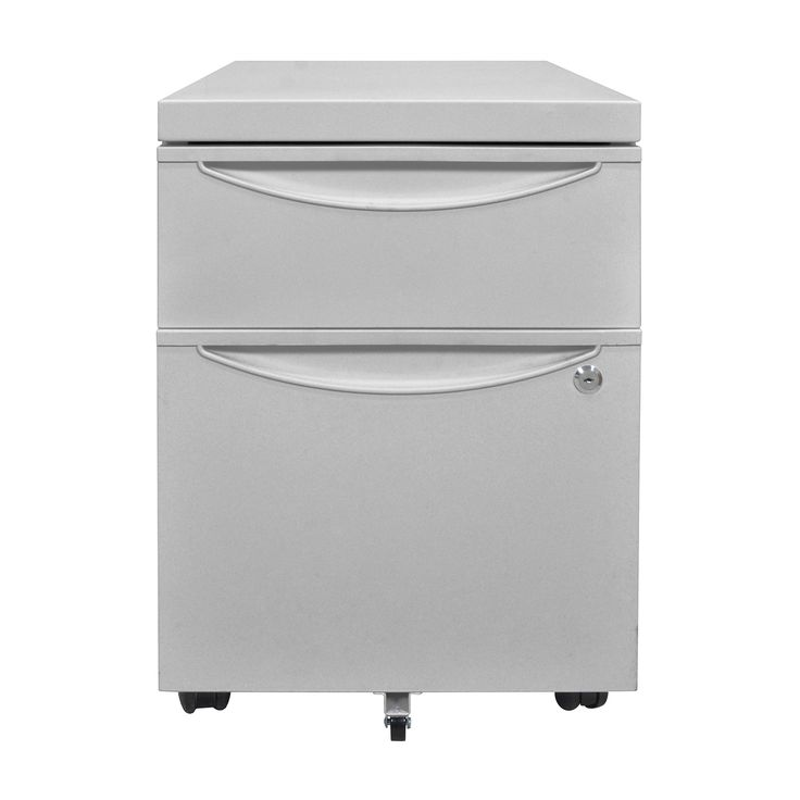 Luxor Mobile Pedestal File Cabinet with Locking Drawer in