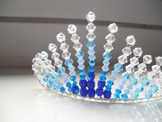 Atlantis Blue Swarovski Crystal Tiara/Head Piece by skullpixie, $30.00