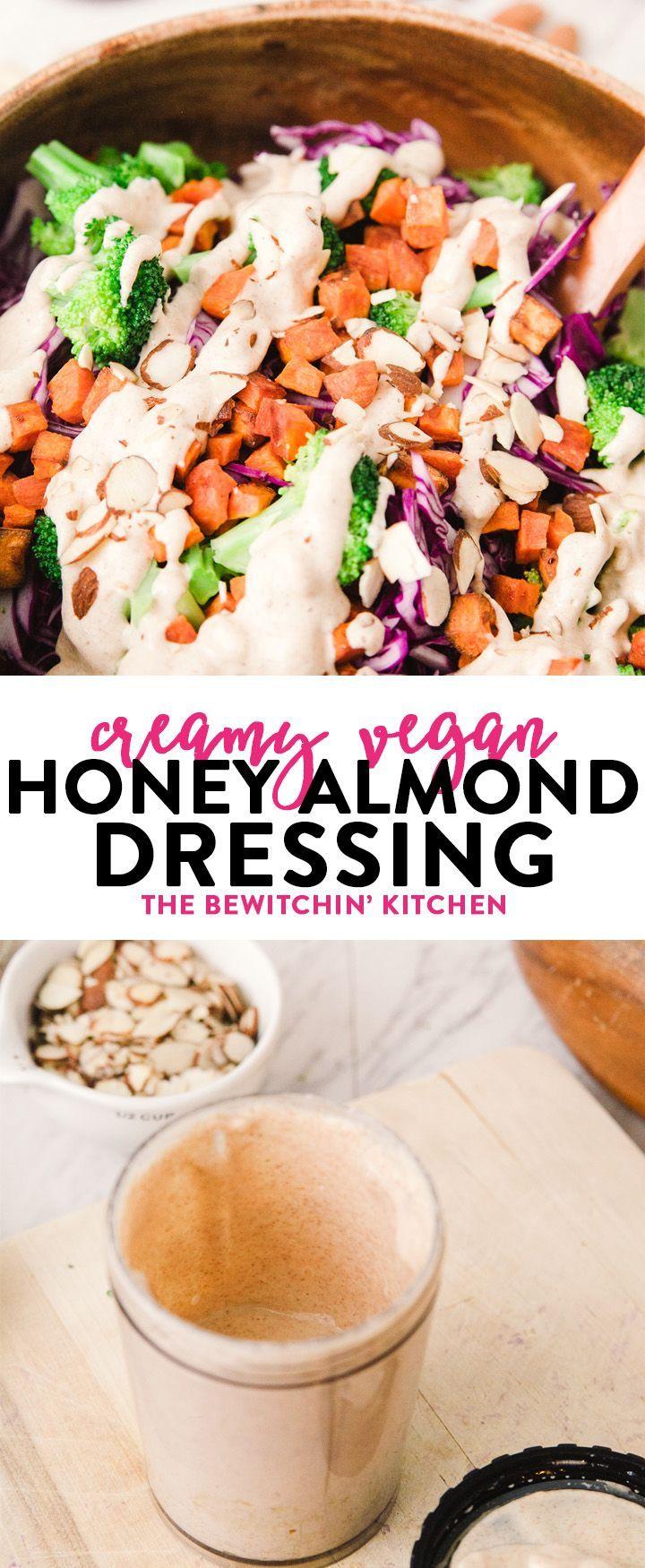Dieses cremige vegane Mandel-Dressing ist einfach zuzubereiten und passt gut zu …   – Vegan Recipes