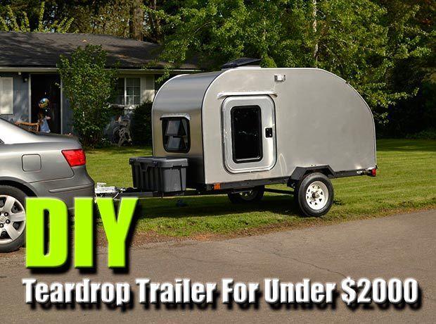 DIY Teardrop Trailer,frugal, camping, DIY, how to, cheap trailer, shtf, bug out, shelter, easy, free plans, teotwawki, outdoors, teardrop camper trailer