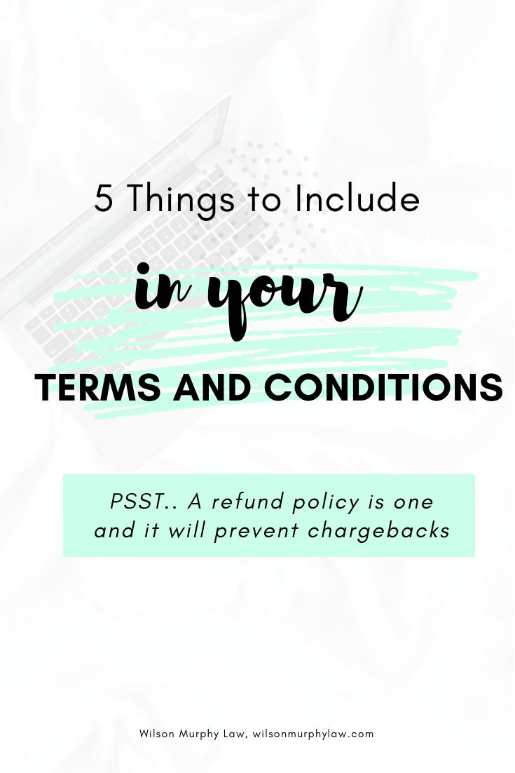 What to include in your terms and conditions Successful