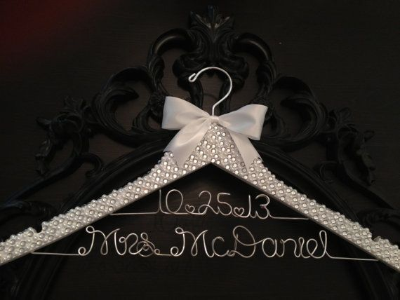 Brides Hanger / Bridal BLING Hanger with Wedding Date by GetHungUp, $60.00