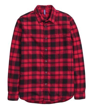 Flannel Shirt | Red/plaid | Men | H&M US