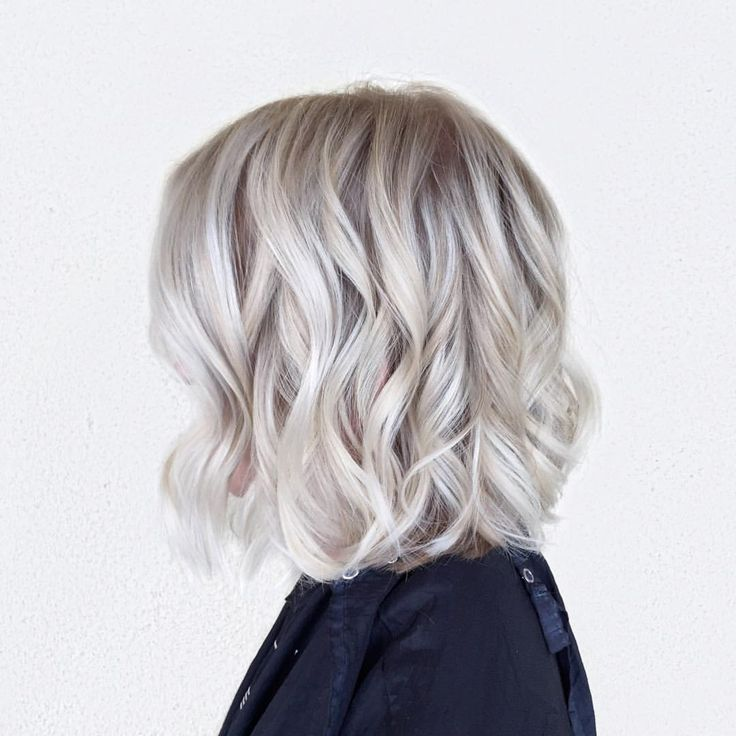 Icy blonde.