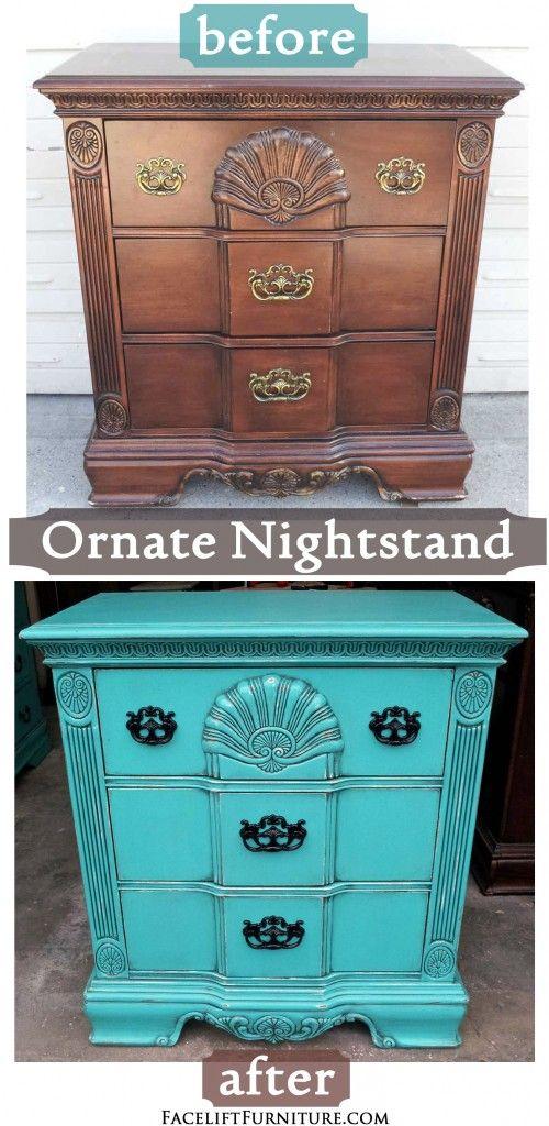 71 best images about turquoise refinished furniture on pinterest vintage china cabinets for Refurbished bedroom furniture