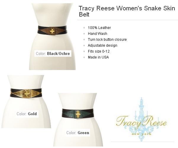 Tracy Reese Women's Snake Skin Belt http://www.amazon.com/dp/B008KGAAKQ/?tag=pinterest0e50-20