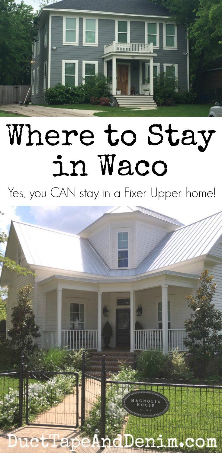 Where to stay in Waco, Texas, best hotels, hotels close to Magnolia Market, and homes featured in Fixer Upper | DuctTapeAndDenim.com