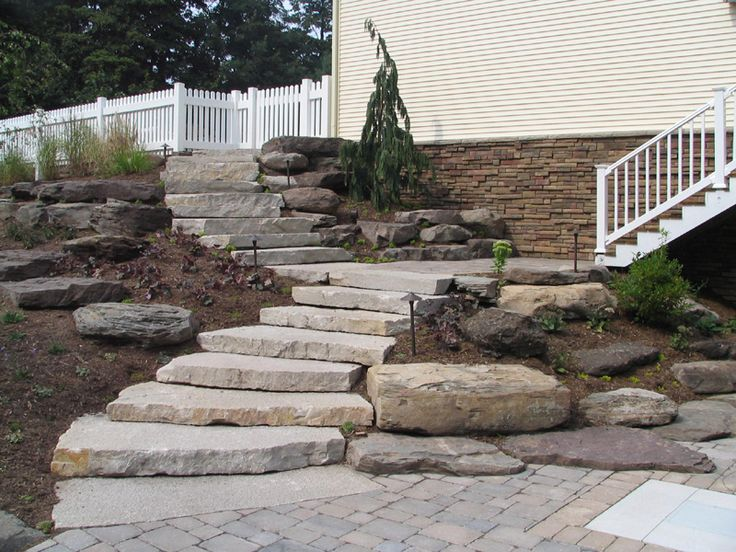 how to build outdoor stone stairs