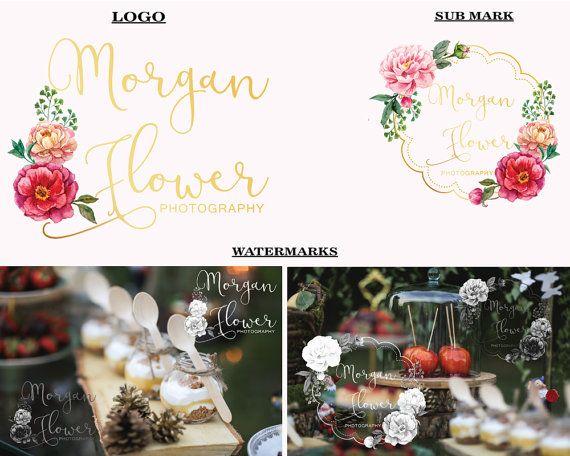 Hand-written logo Flower logo design Photography by LoveArtsStudio
