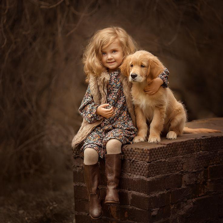 Девочка картинки с животными