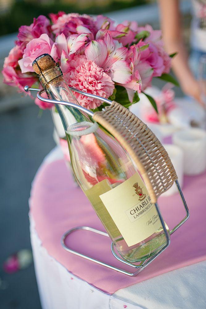 Романтический ужин в нежно-розовом цвете