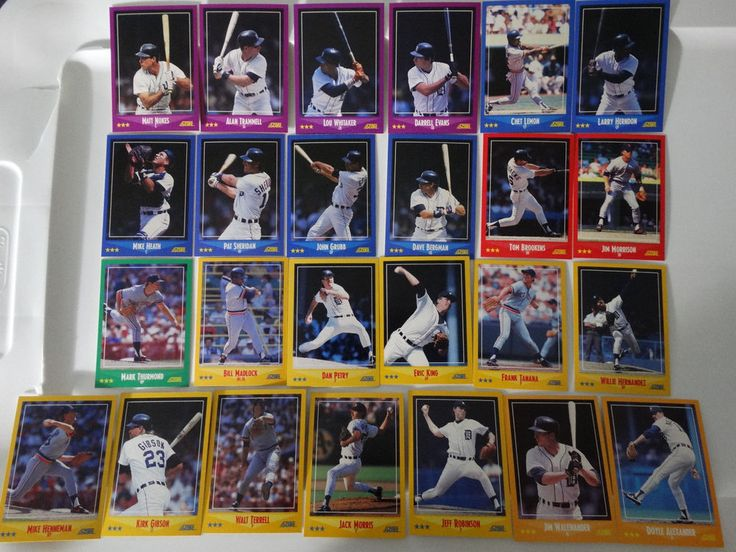 1988 Score Detroit Tigers Team Set of 25 Baseball Cards #DetroitTigers
