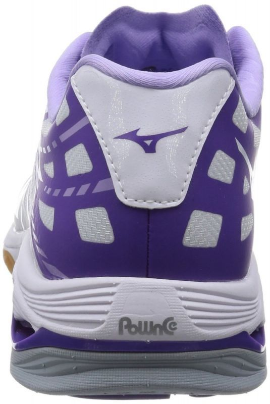 Mizuno Wave Lightning sapatos de Vôlei Z Mid Preto X Branco V1GA1500 X Lavanda