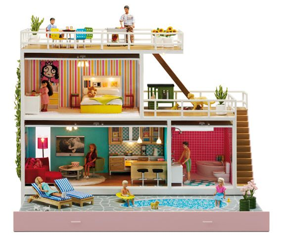 Lundby swedish dollhouse. I wish we could easily get these in the US. I loved playing with this as a child.