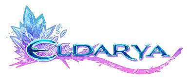 Cristal bleu et violet, logo d'Eldarya
