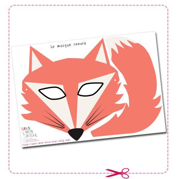 free printable fox mask