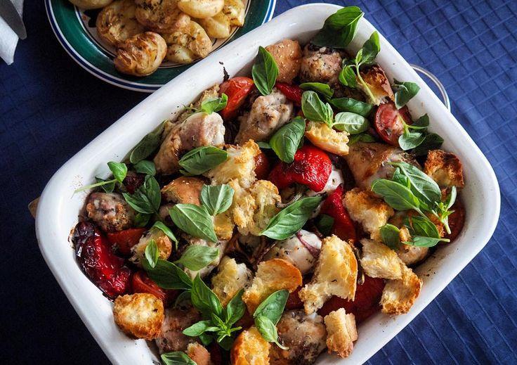 ong weekend roast chicken panzanella..amazing!!