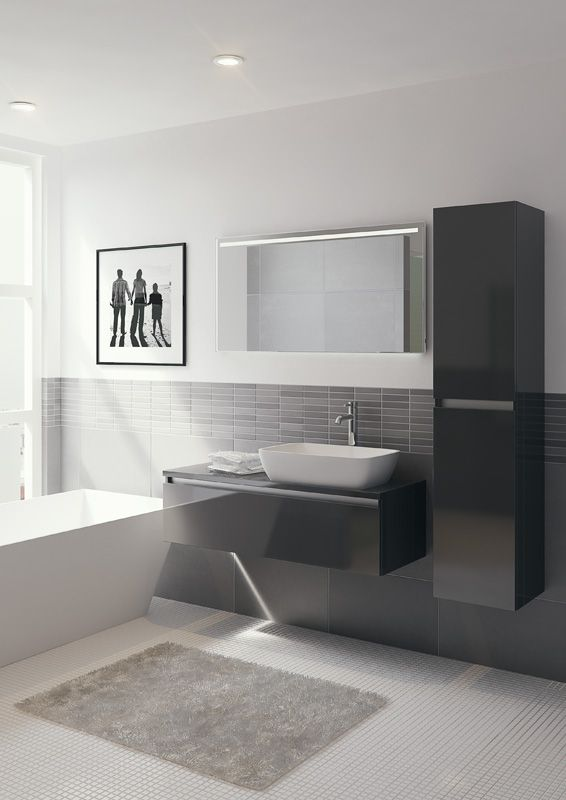 Bruynzeel Faro 100cm // badmeubel kolomkast badkamer sanitair / bathroom furniture cabinet / meuble salle de bain colonne