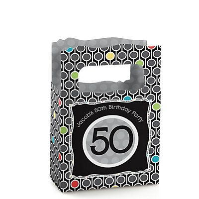 Adult 50th Birthday - Personalized Birthday Party Mini Favor Boxes | BigDotOfHappiness.com