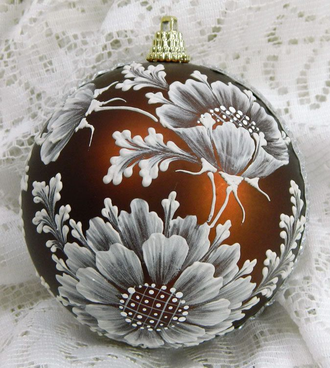 Bronze MUD Sunflower Ornament with Bling. $35.00, via Etsy.