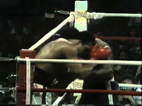 The Thrilla in Manila was the third and final boxing match between Muhammad Ali and Joe Frazier. It was contested for the Heavyweight Championship of the World at the Araneta Coliseum in Quezon City, Metro Manila, Philippines on Wednesday, October 1, 1975. The bout is consistently ranked as one of the best in the sport's history and proved to be the culmination of the bitter rivalry between Ali and Frazier.