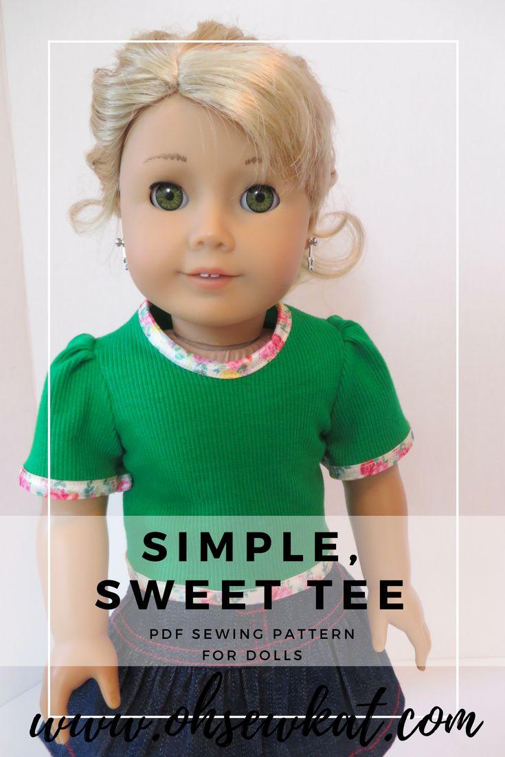 39 best PDF Sewing Pattern for 18 inch & Animator dolls -School Bell ...