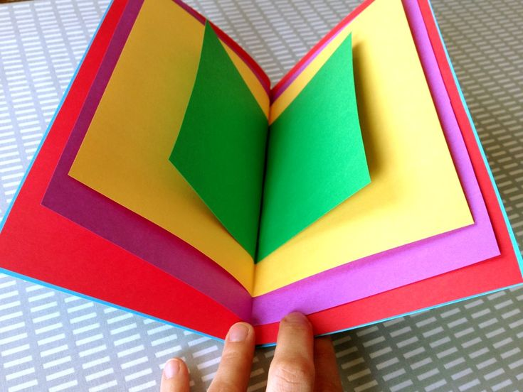 """Spark the imagination of a budding author! Colorful """"Little Book"""" kids craft inspired by the picture book Open This Little Book by Jesse Klausmeier, illustrated by Suzy Lee"""