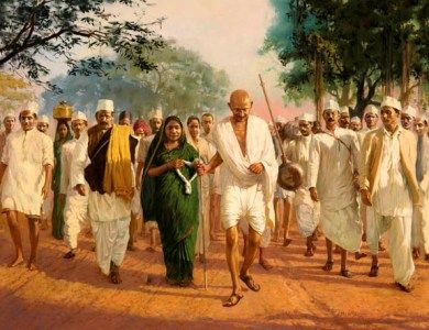 ghandi salt march Check out famous speech of mahatma gandhiji on the eve of historic dandi march on the 11th of march 1930, the crowd swelled to 10,000 at the evening prayer held on.