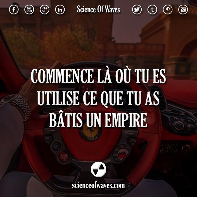 Commence là où tu es. Utilise ce que tu as. Bâtis un empire.  #motivation…