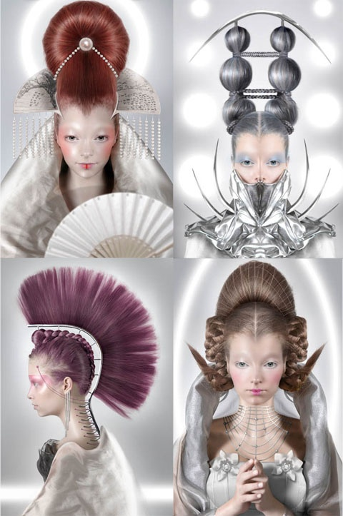 The winner of the Coiffure Award 2008, Avant Garde, was Gisli Ari Hafsteinsson .