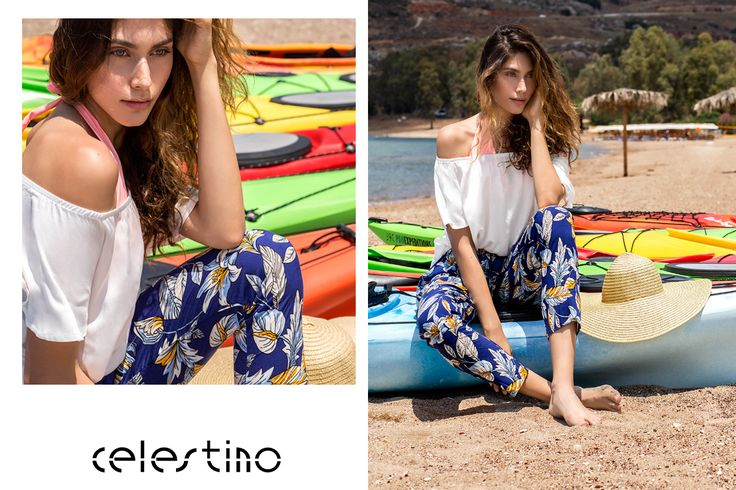 Bright colors and fl­oral prints. Add an off shoulder top and off you go to seduce the world! #Celest­ino #fashion #florals #trends #newin #fa­shioninspo #hotgirl