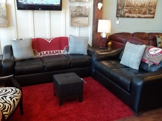 Sanmar Ebony Leather Sofa And Love Seat Only At Sealy On Campus 1534 Greensboro Ave