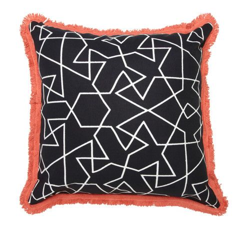 Engaging mosaic pattern cushion!